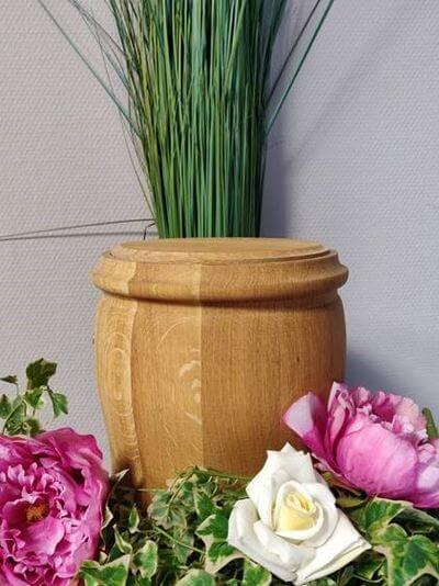 Holzurne honig natur rustikal